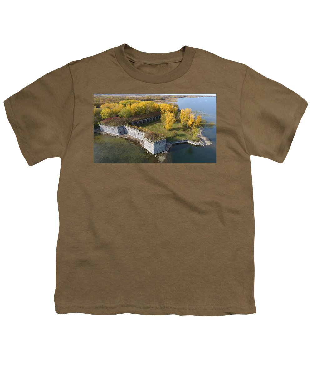 Fort Youth T-Shirt featuring the photograph Fort Montgomery Fall by Jedidiah Thone
