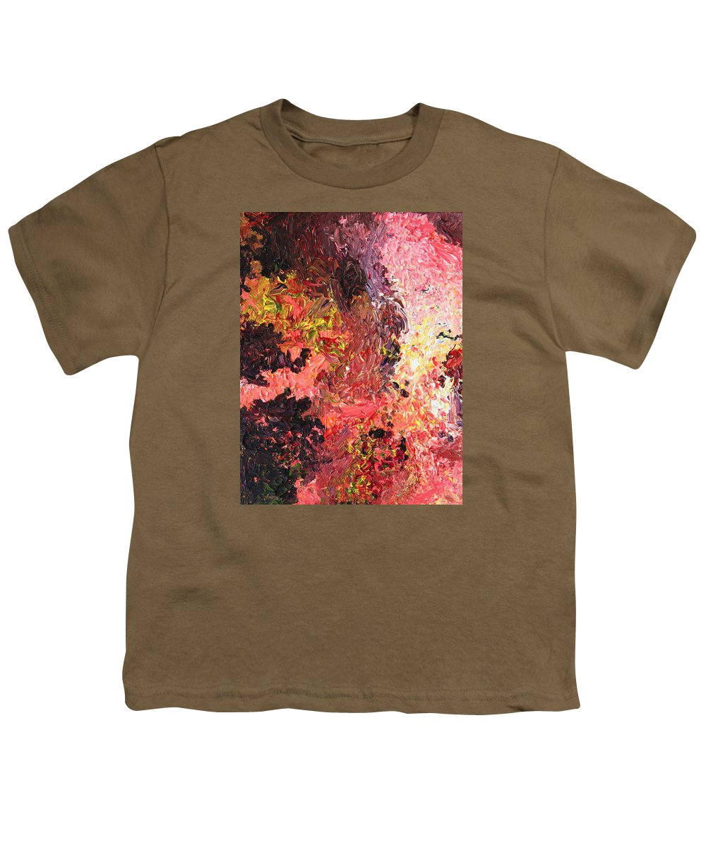 Fusionart Youth T-Shirt featuring the painting Ganesh In The Garden by Ralph White