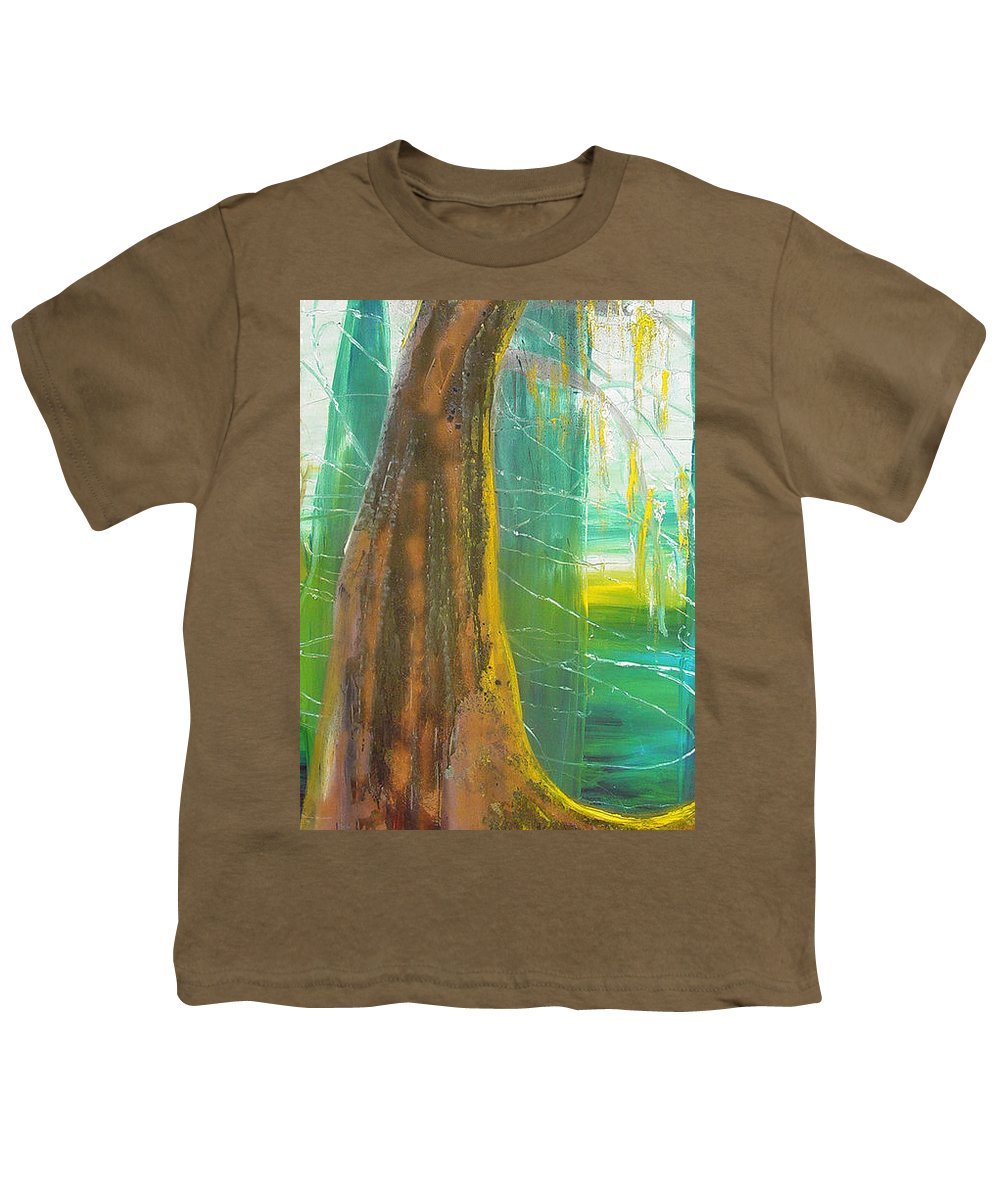 Landscape Youth T-Shirt featuring the painting Georgia Morning by Peggy Blood