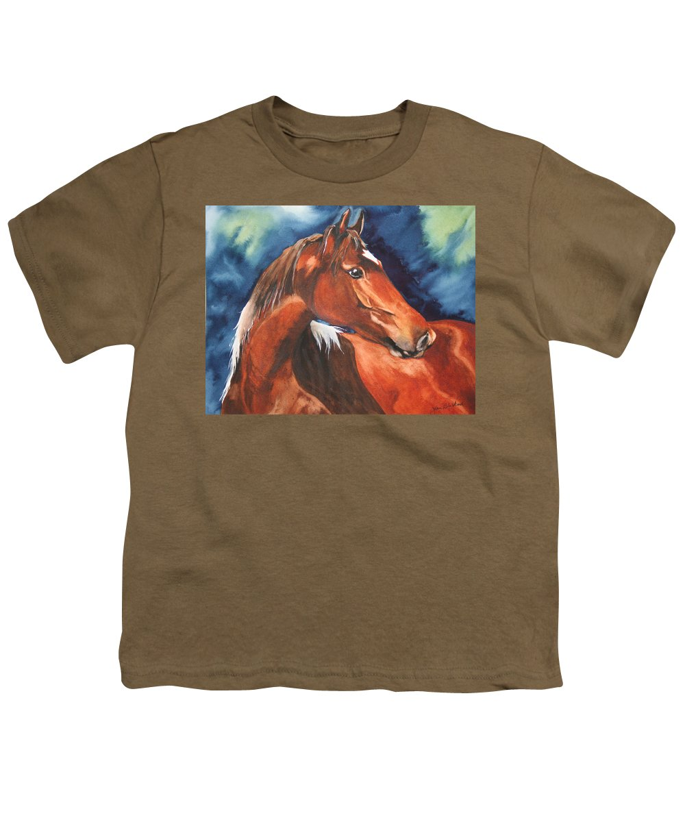 Horse Youth T-Shirt featuring the painting Golden Boy by Jean Blackmer