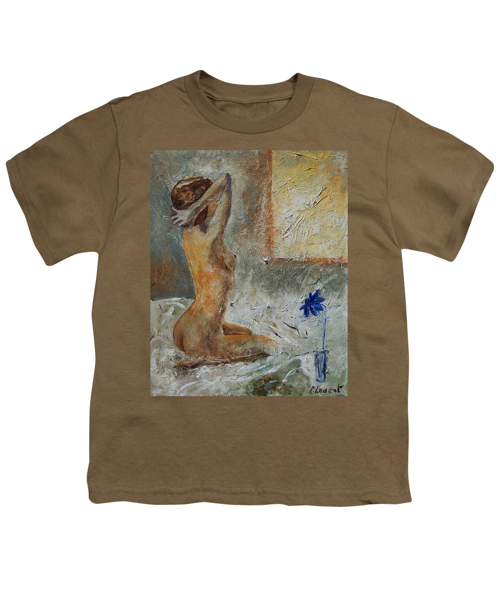 Nude Youth T-Shirt featuring the painting Good Morning Sunshine by Pol Ledent