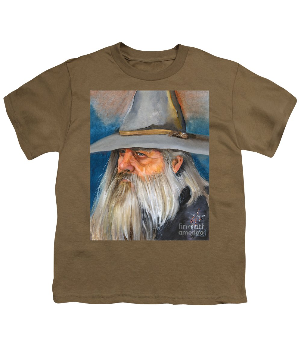 Wizard Youth T-Shirt featuring the painting Grey Days by J W Baker