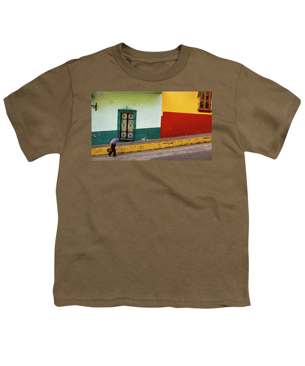 Man Youth T-Shirt featuring the photograph Hard Knock Life by Skip Hunt