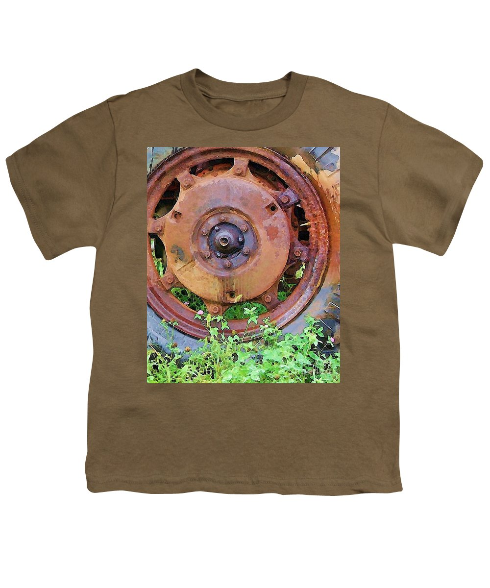Rust Youth T-Shirt featuring the photograph Heavy Metal by Debbi Granruth