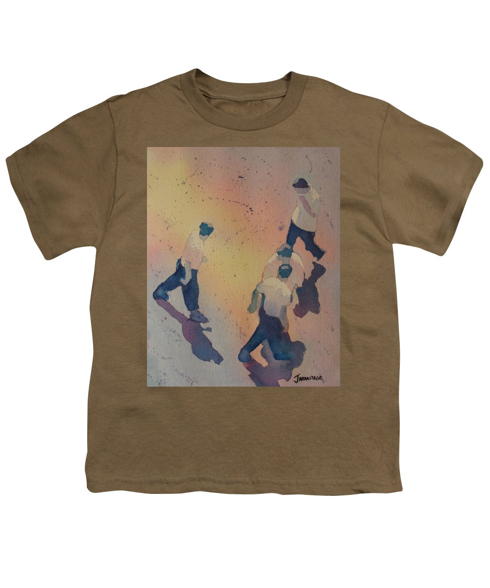 Men Youth T-Shirt featuring the painting High Noon At The Gravel Spit I by Jenny Armitage