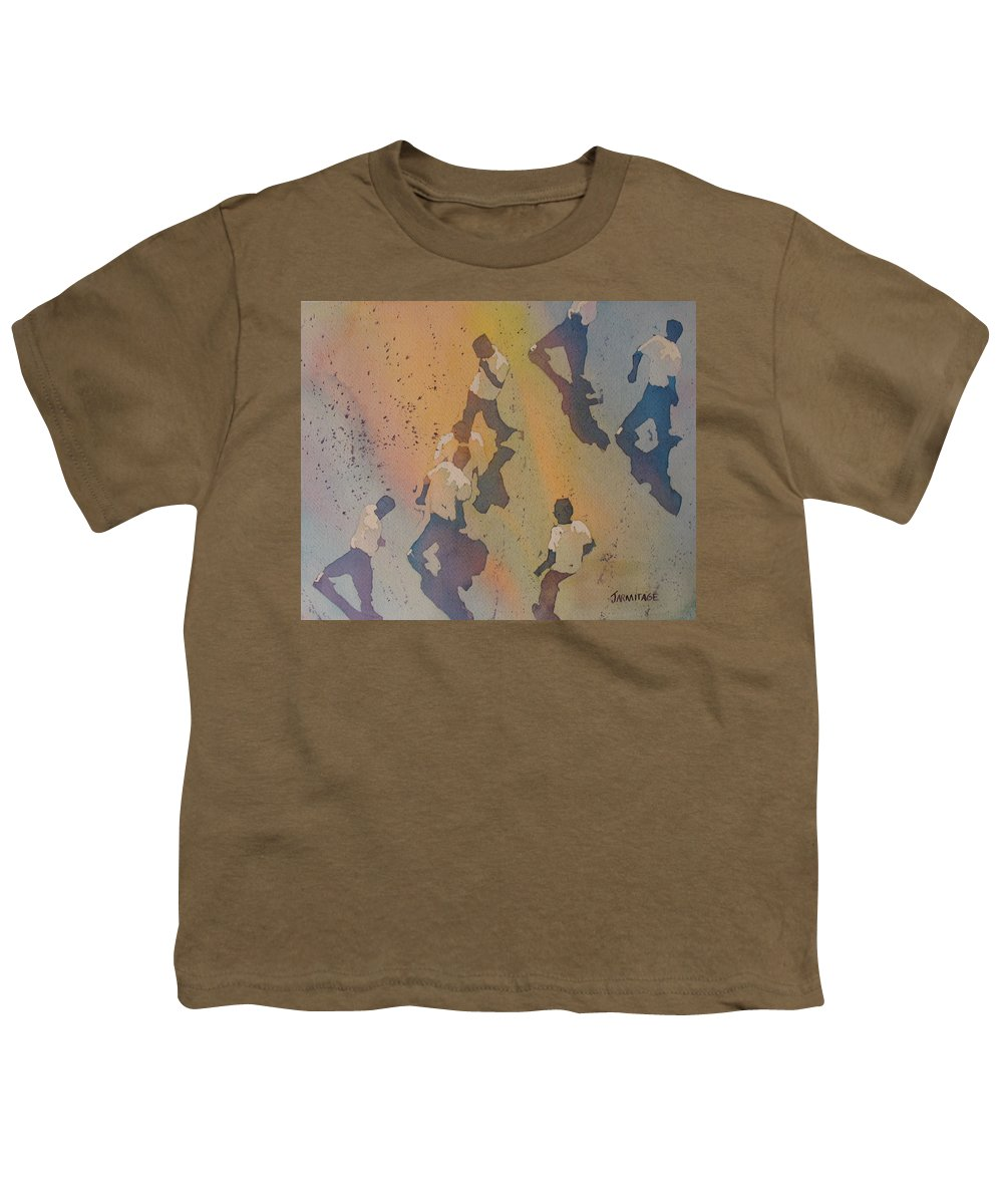 Men Youth T-Shirt featuring the painting High Noon At The Gravel Spit II by Jenny Armitage