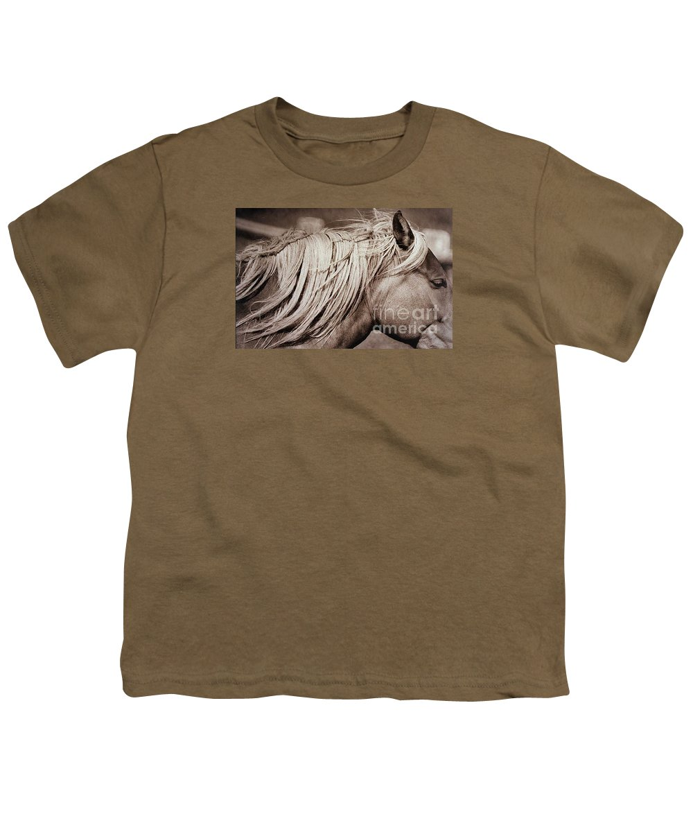 Horse Youth T-Shirt featuring the photograph Horse's Mane by Michael Ziegler