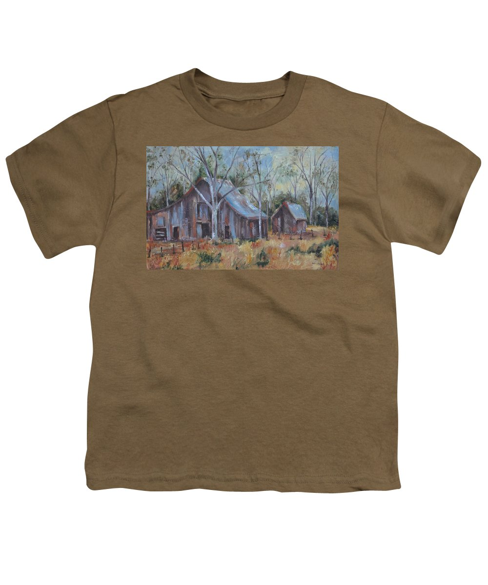 Barns Youth T-Shirt featuring the painting If They Could Speak by Ginger Concepcion