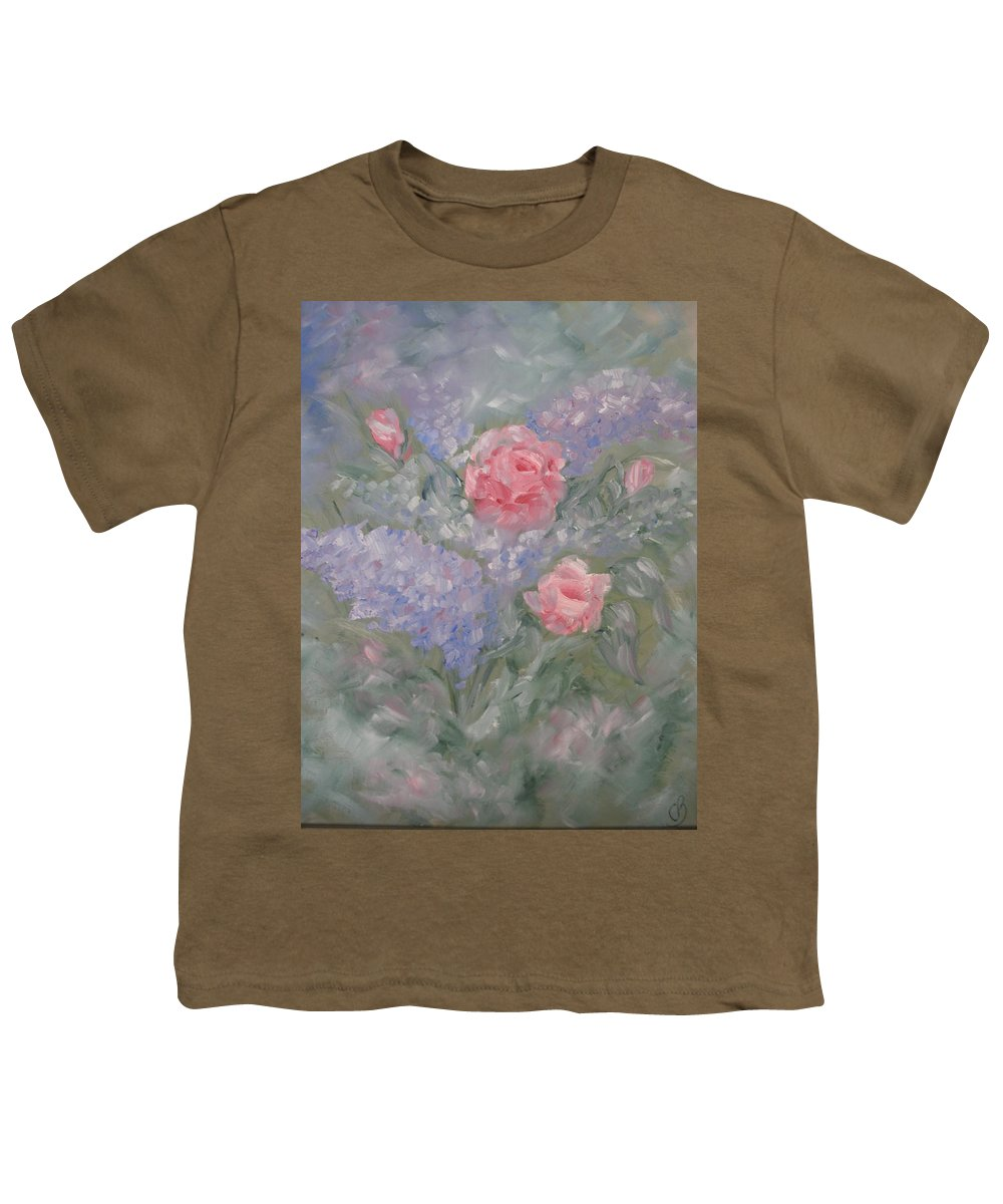 Flowers Youth T-Shirt featuring the painting In Bloom by Carrie Mayotte
