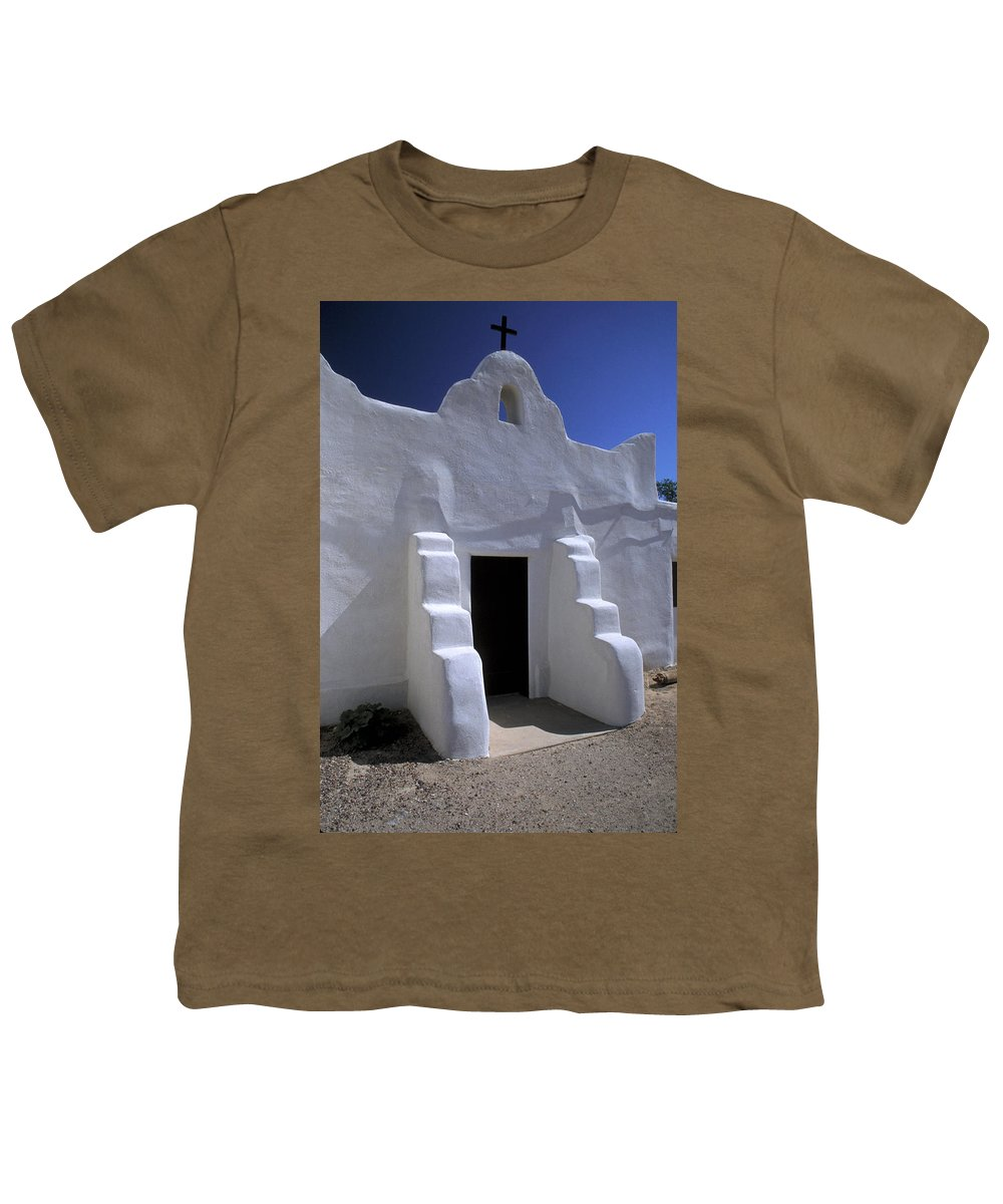 Adobe Youth T-Shirt featuring the photograph Isleta by Jerry McElroy