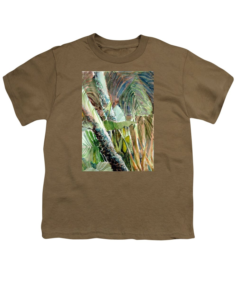 Palm Tree Youth T-Shirt featuring the painting Jungle Light by Mindy Newman