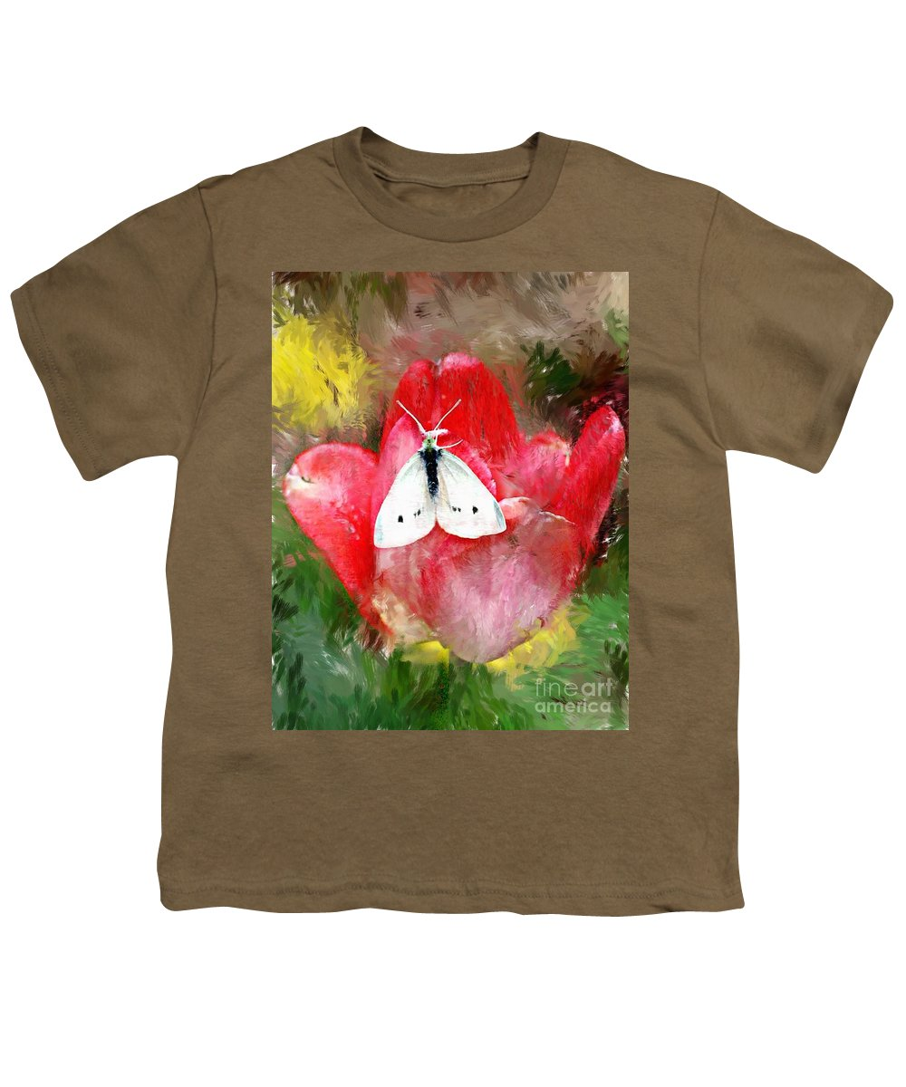 Digital Photo Youth T-Shirt featuring the photograph Just Visiting by David Lane