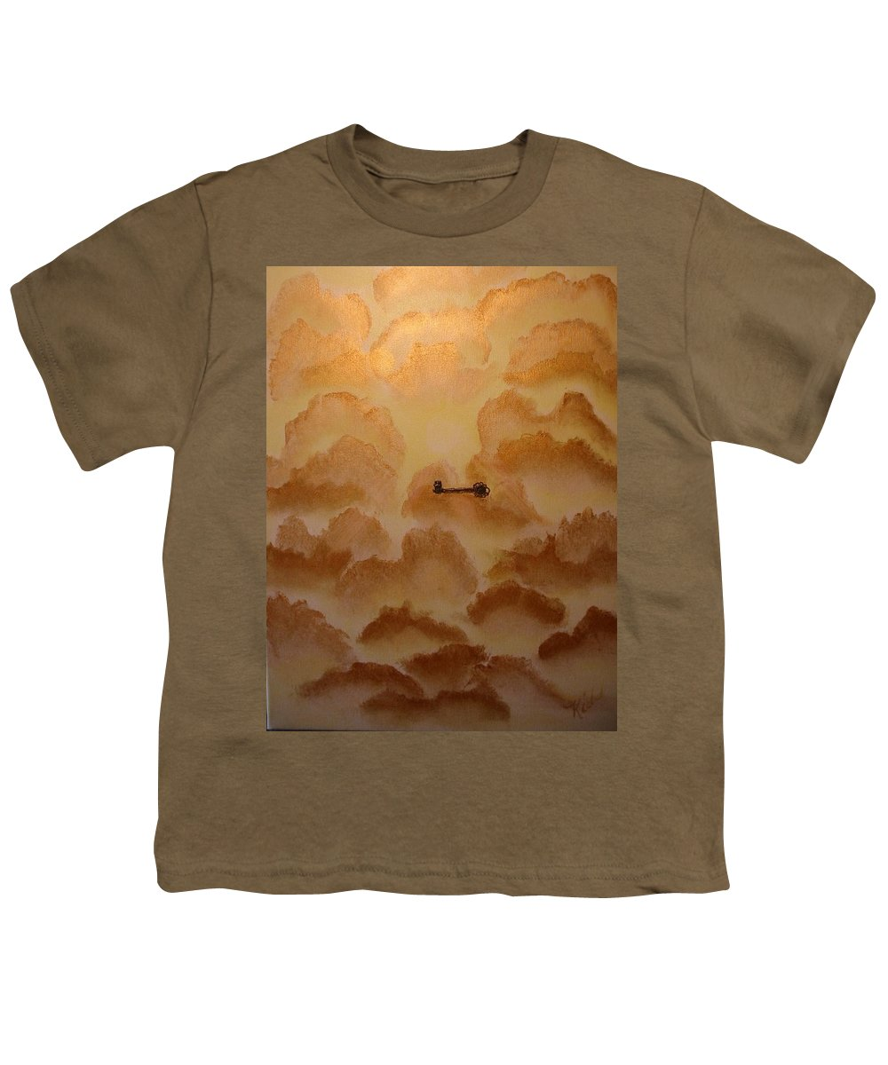 Gold Youth T-Shirt featuring the painting Keys To The Kingdom by Laurie Kidd