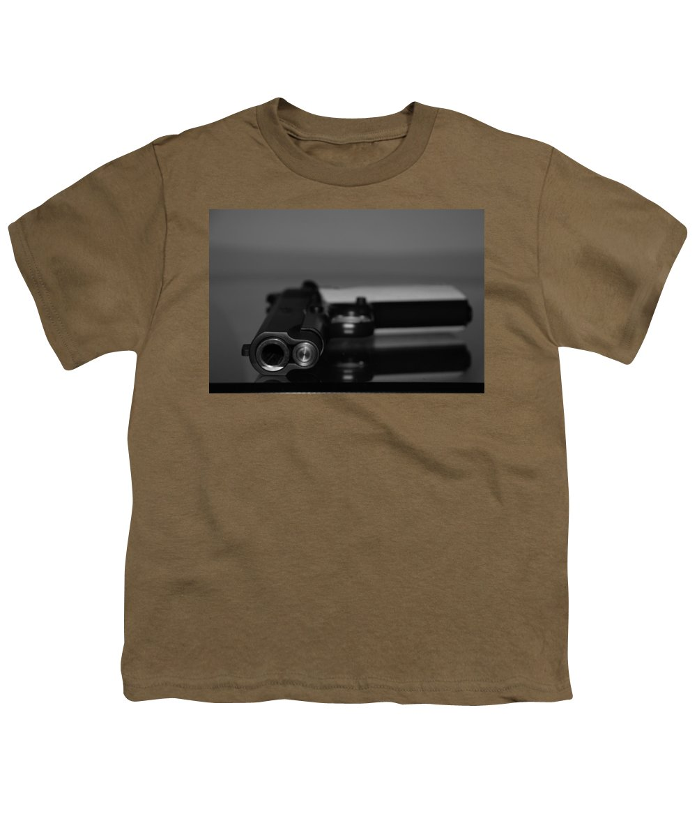 45 Auto Youth T-Shirt featuring the photograph Kimber 45 by Rob Hans