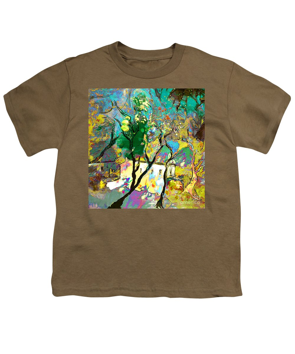 Miki Youth T-Shirt featuring the painting La Provence 16 by Miki De Goodaboom