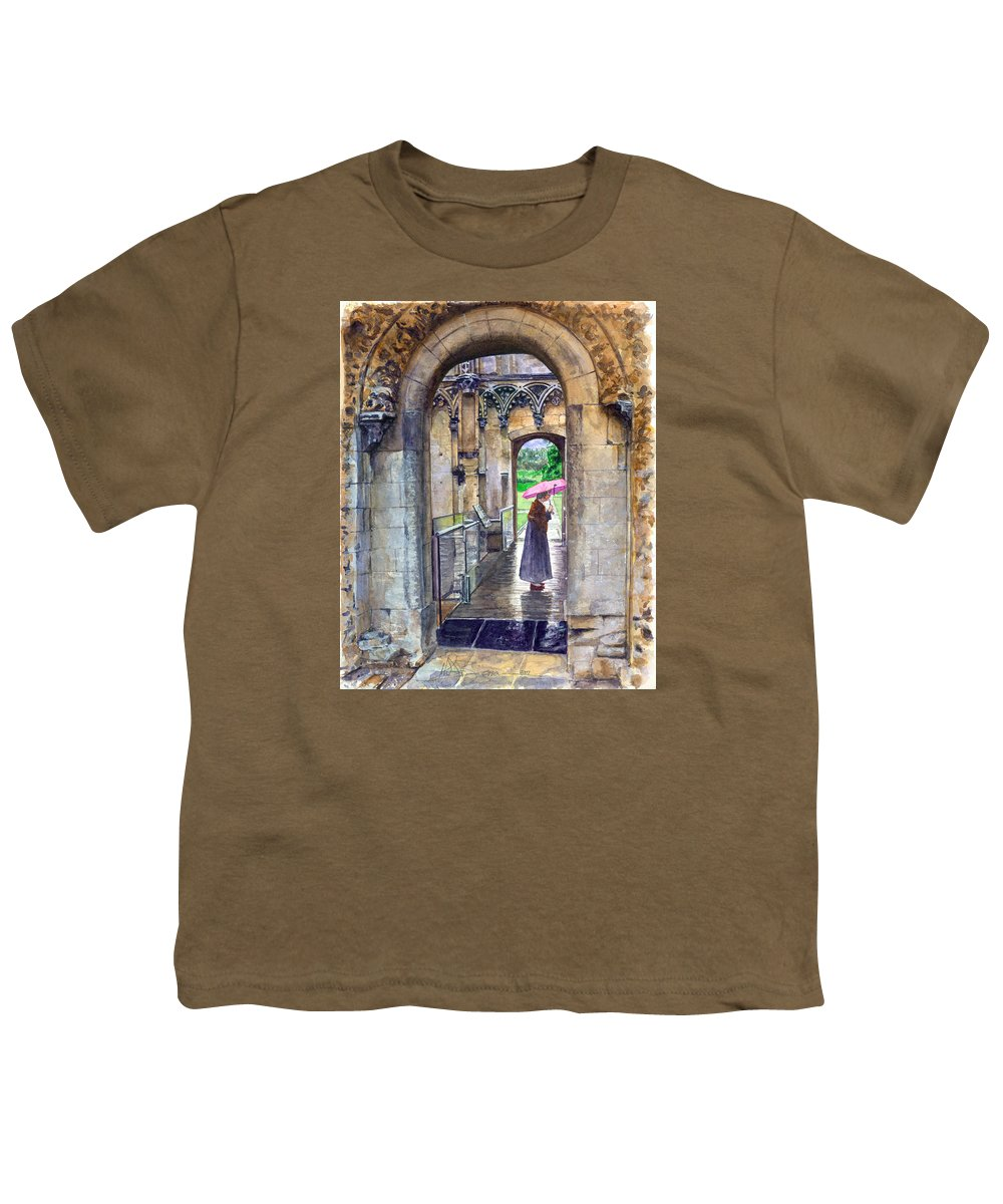 Glastonbury Youth T-Shirt featuring the painting Lady Chapel by John D Benson