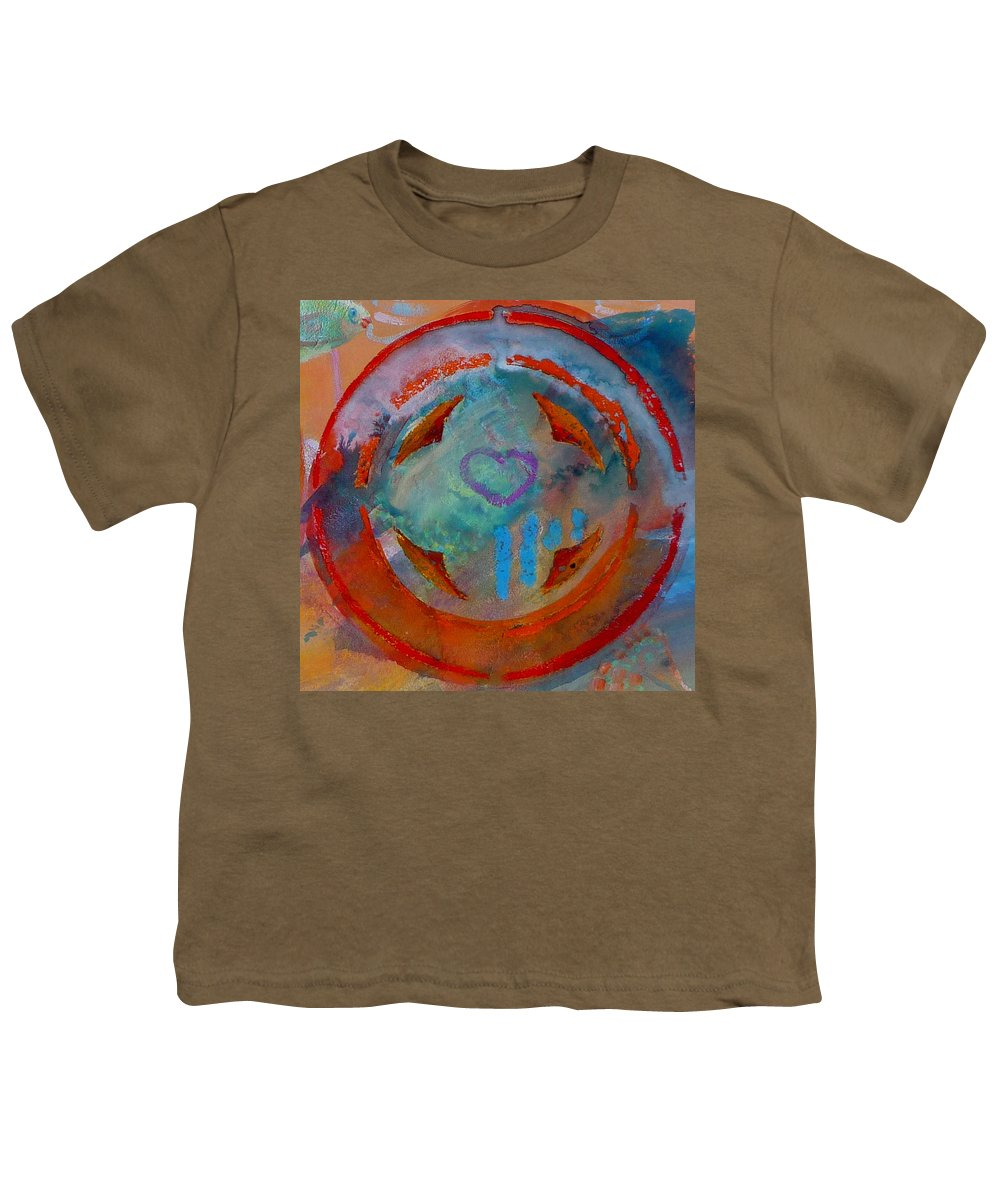 Love Youth T-Shirt featuring the painting Landscape Seascape by Charles Stuart