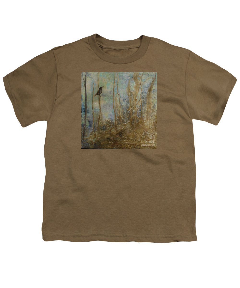 Bird Youth T-Shirt featuring the painting Lawbird by Heather Hennick