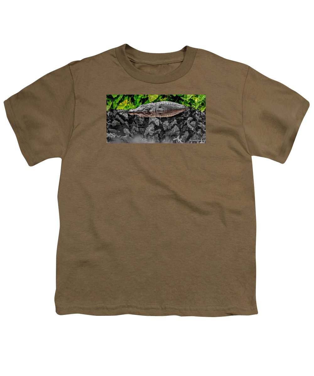 American Youth T-Shirt featuring the photograph Let Sleeping Gators Lie - Mod by Christopher Holmes