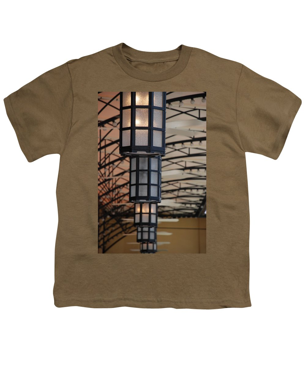 Architecture Youth T-Shirt featuring the photograph Lights At City Place by Rob Hans