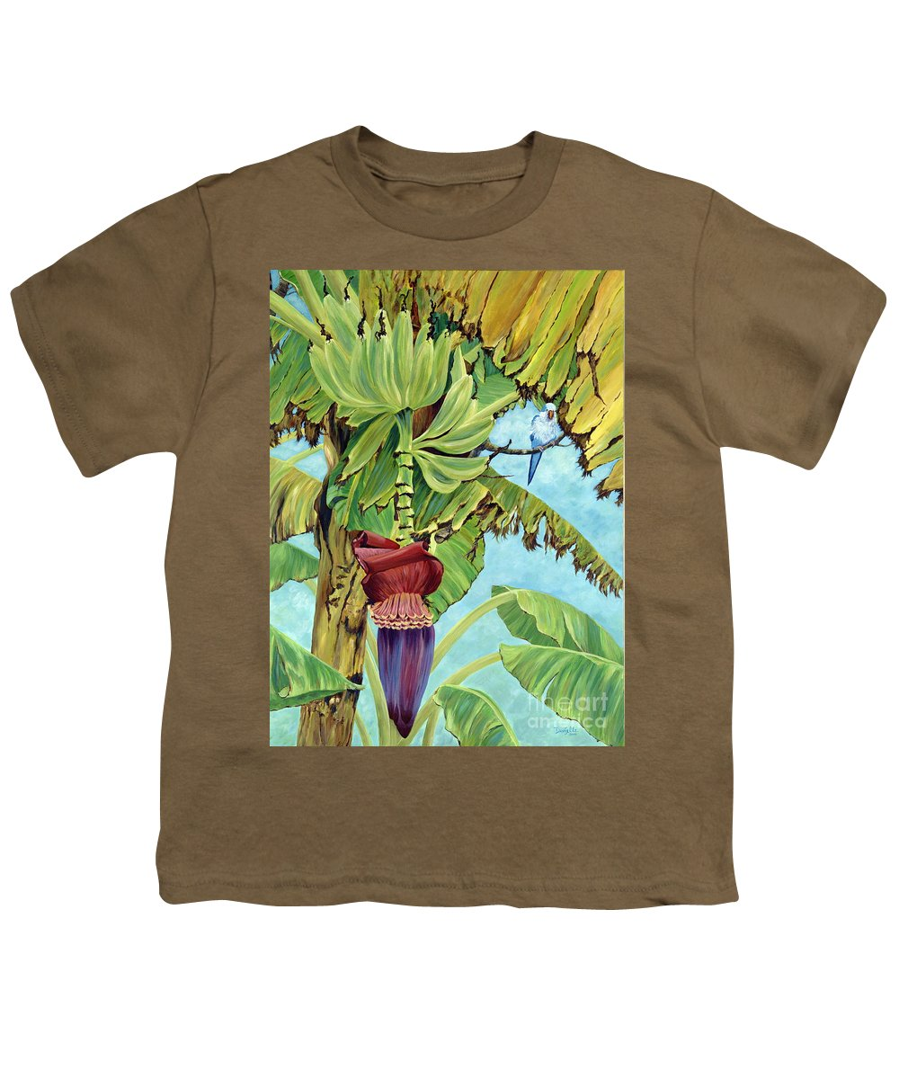 Tropical Youth T-Shirt featuring the painting Little Blue Quaker by Danielle Perry