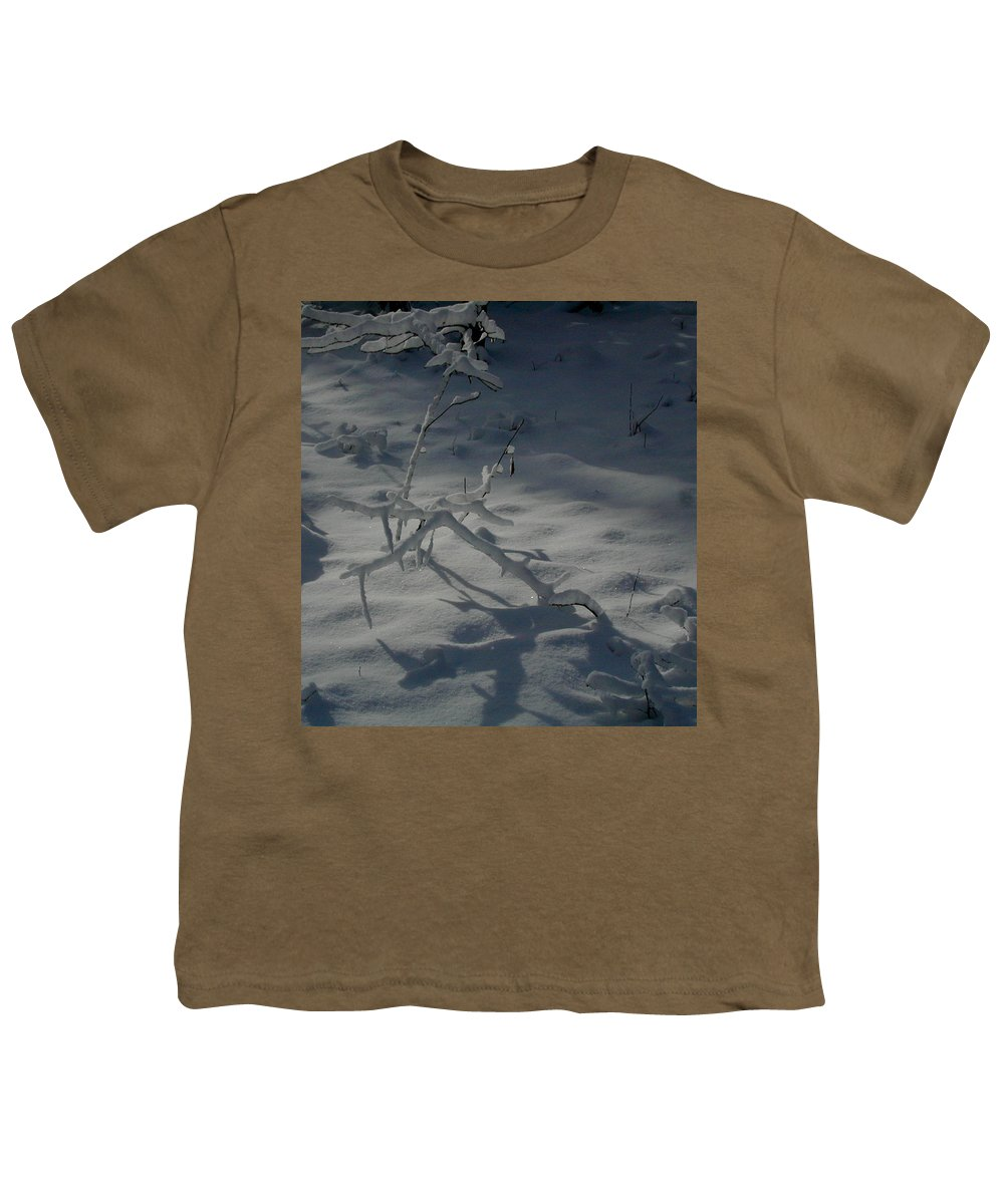 Loneliness Youth T-Shirt featuring the photograph Loneliness In The Cold by Douglas Barnett
