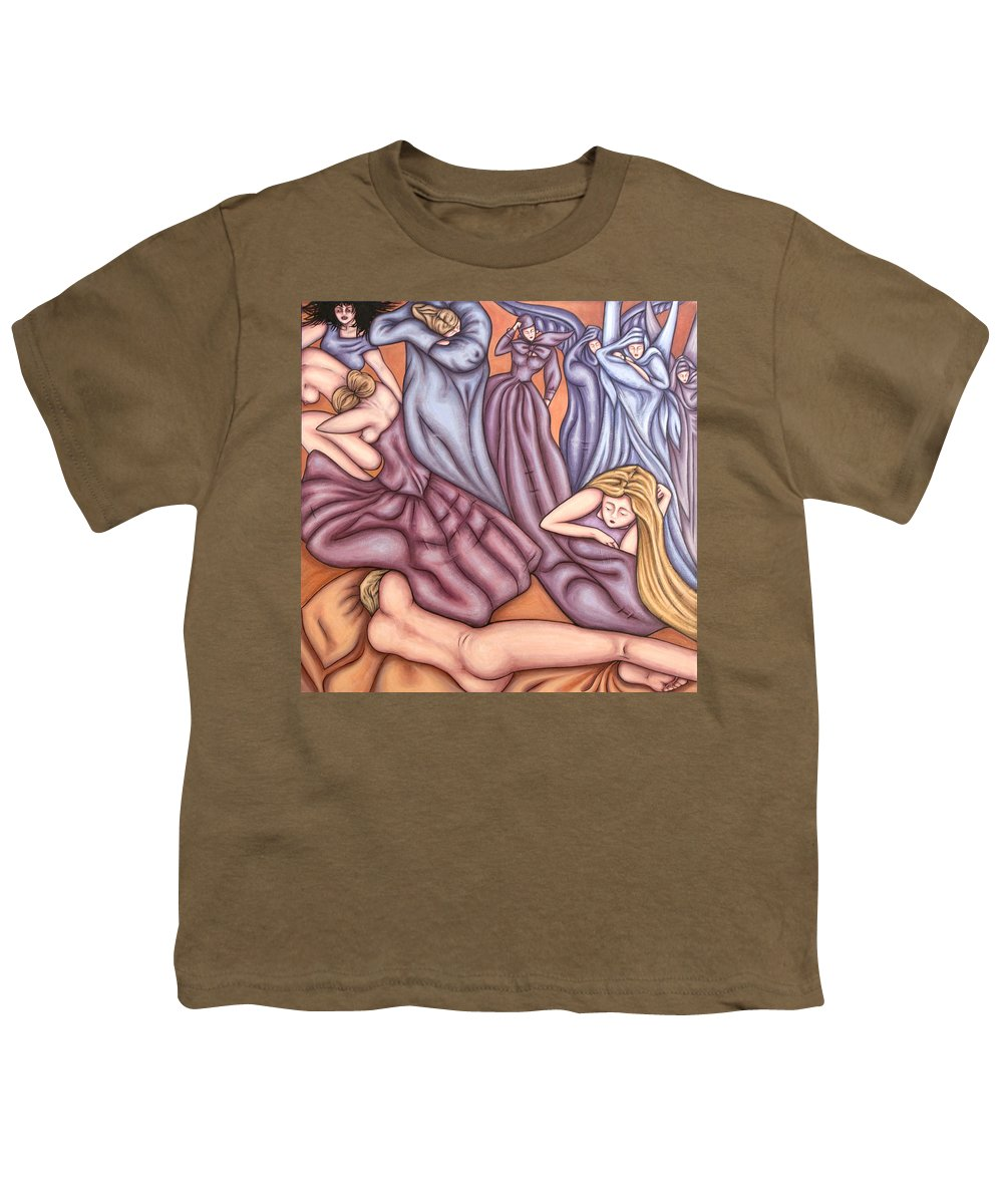 Mourning Youth T-Shirt featuring the painting Loosing Charles by Judy Henninger