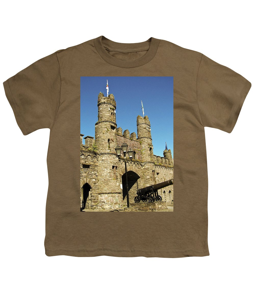 Irish Youth T-Shirt featuring the photograph Macroom Castle County Cork Ireland by Teresa Mucha