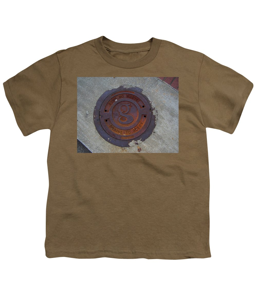 Manhole Youth T-Shirt featuring the photograph Manhole IIi by Flavia Westerwelle