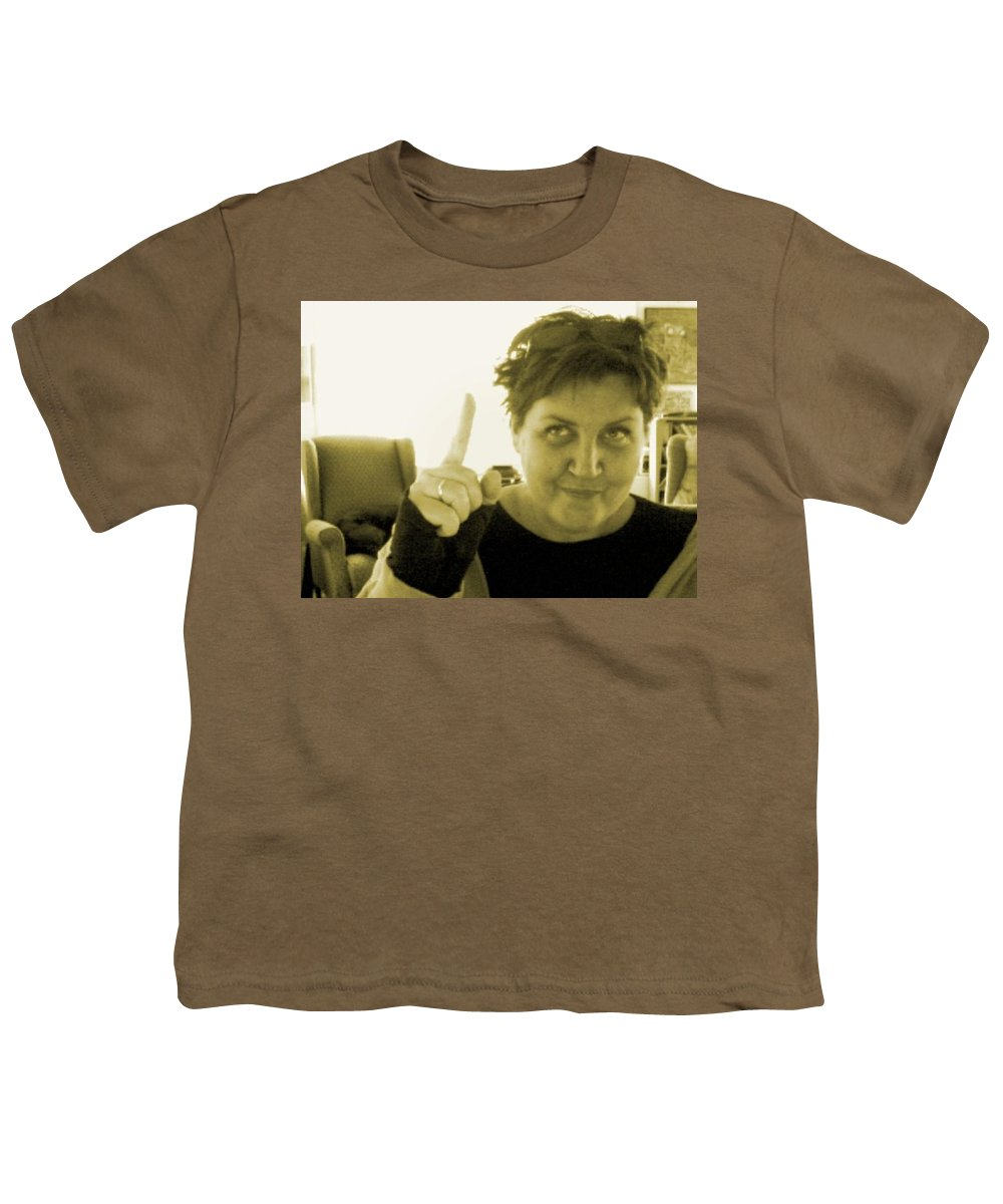 Youth T-Shirt featuring the pyrography me by Veronica Jackson