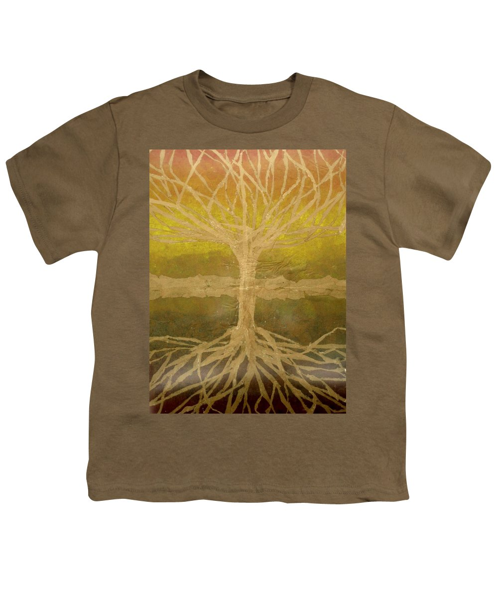 Abstract Youth T-Shirt featuring the painting Meditation by Leah Tomaino