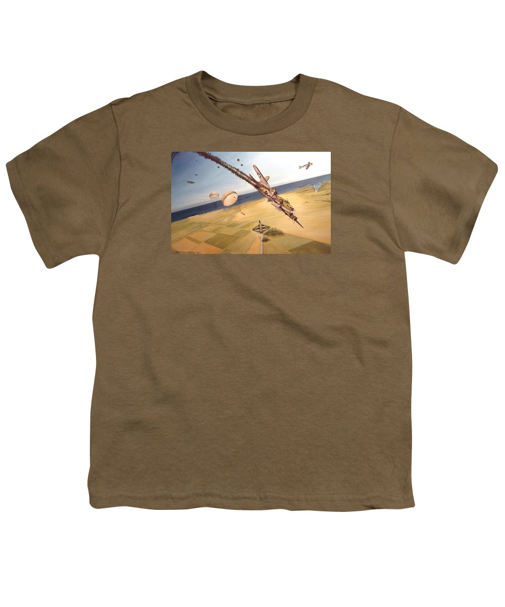 Aviation Youth T-Shirt featuring the painting Mehitabel by Marc Stewart