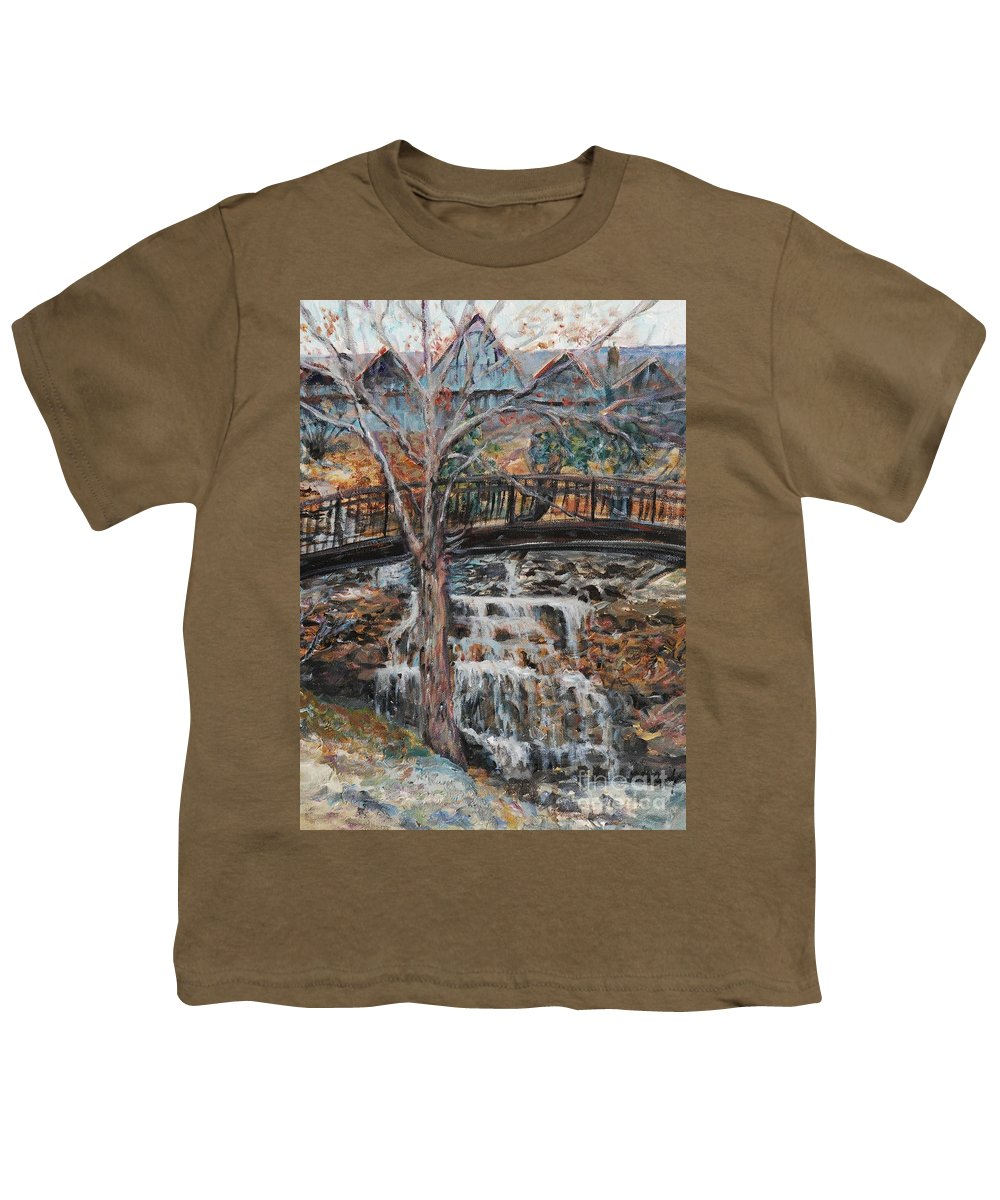 Waterfalls Youth T-Shirt featuring the painting Memories by Nadine Rippelmeyer