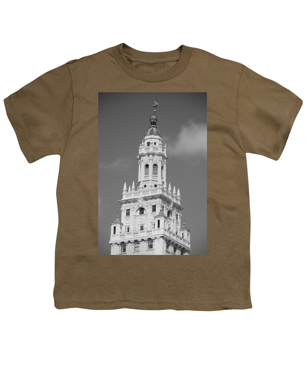 Architecture Youth T-Shirt featuring the photograph Miami Tower by Rob Hans