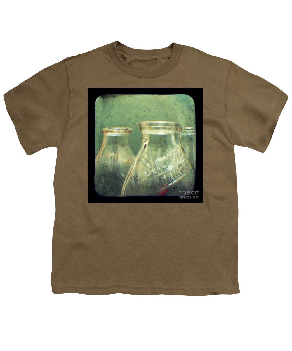 Ttv Youth T-Shirt featuring the photograph Milk Bottles by Dana DiPasquale