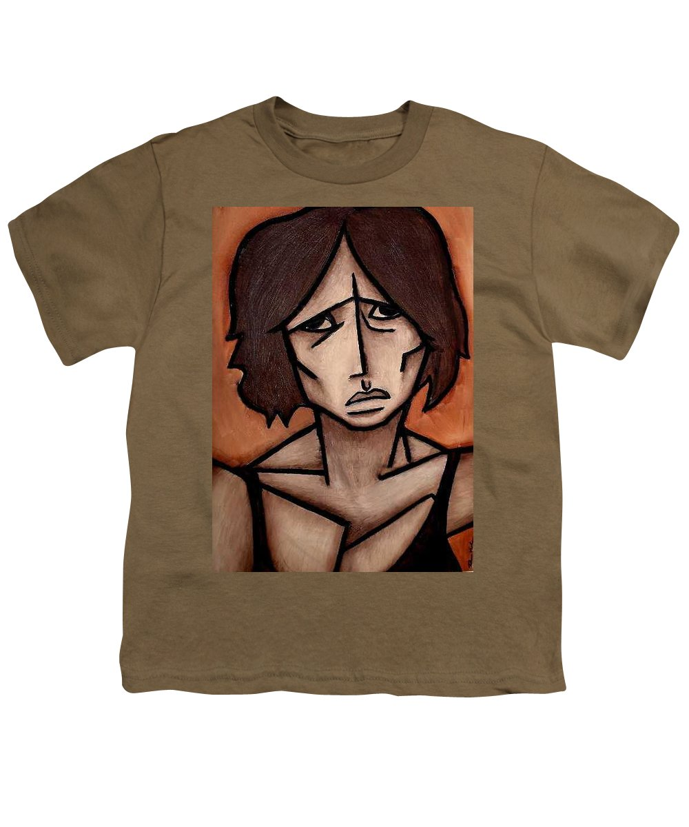 Potrait Youth T-Shirt featuring the painting Missy by Thomas Valentine