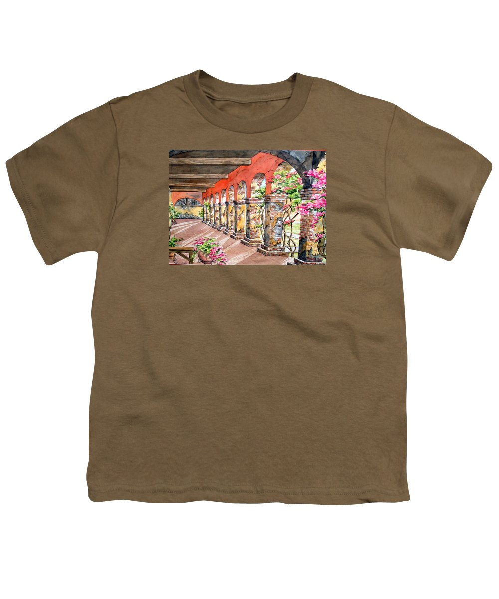 Landscape Youth T-Shirt featuring the painting Monasterio by Tatiana Escobar