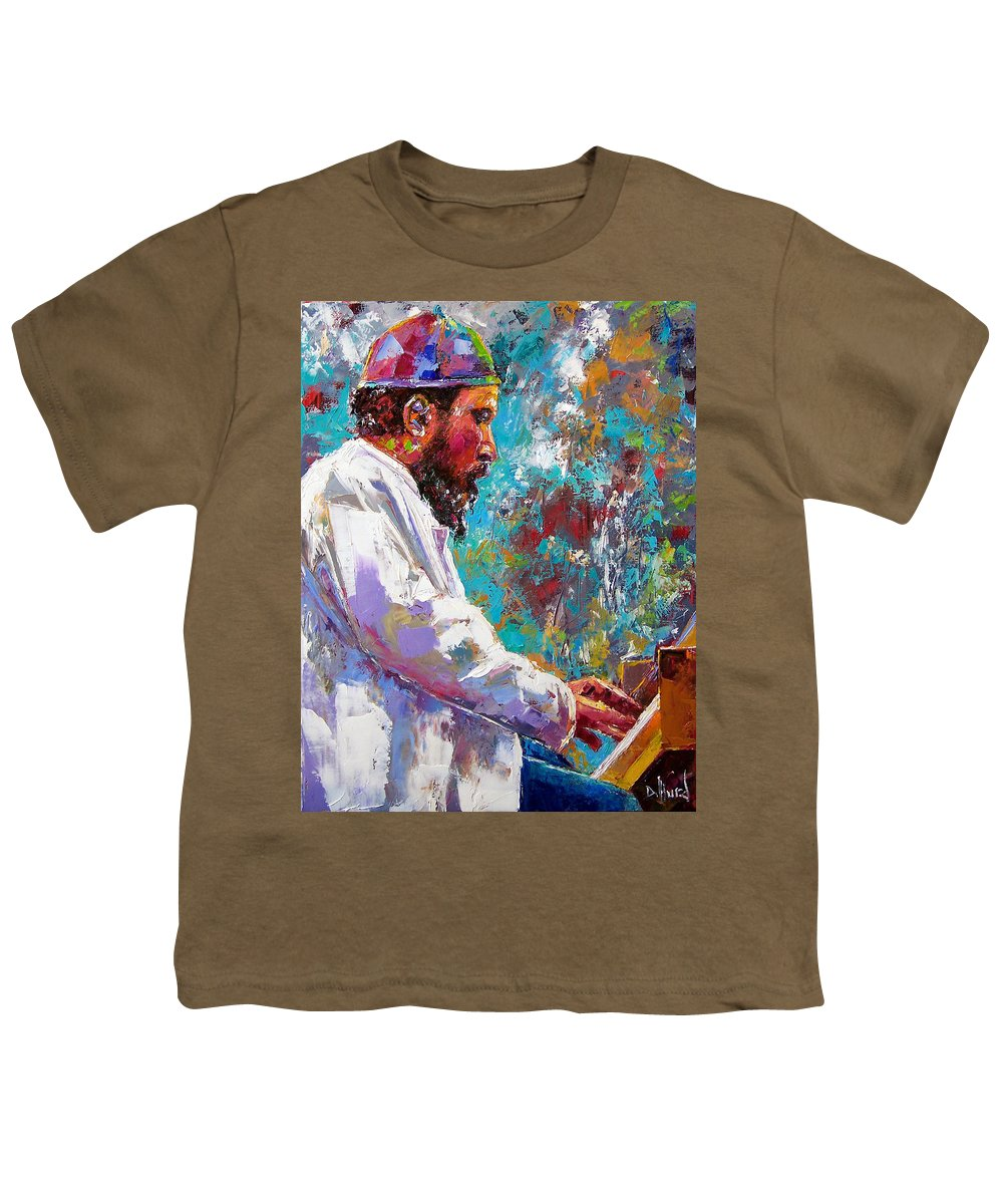 Thelonious Monk Art Youth T-Shirt featuring the painting Monk Live by Debra Hurd