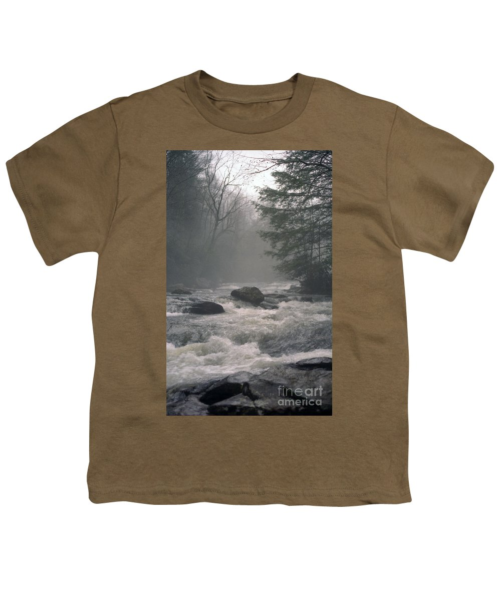 Rivers Youth T-Shirt featuring the photograph Morning At The River by Richard Rizzo