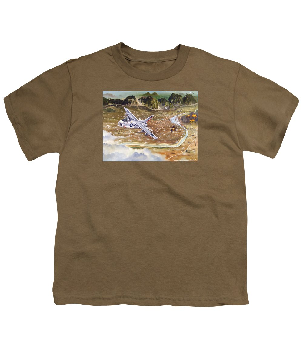 Aviation Youth T-Shirt featuring the painting Mu Gia Mayhem by Marc Stewart