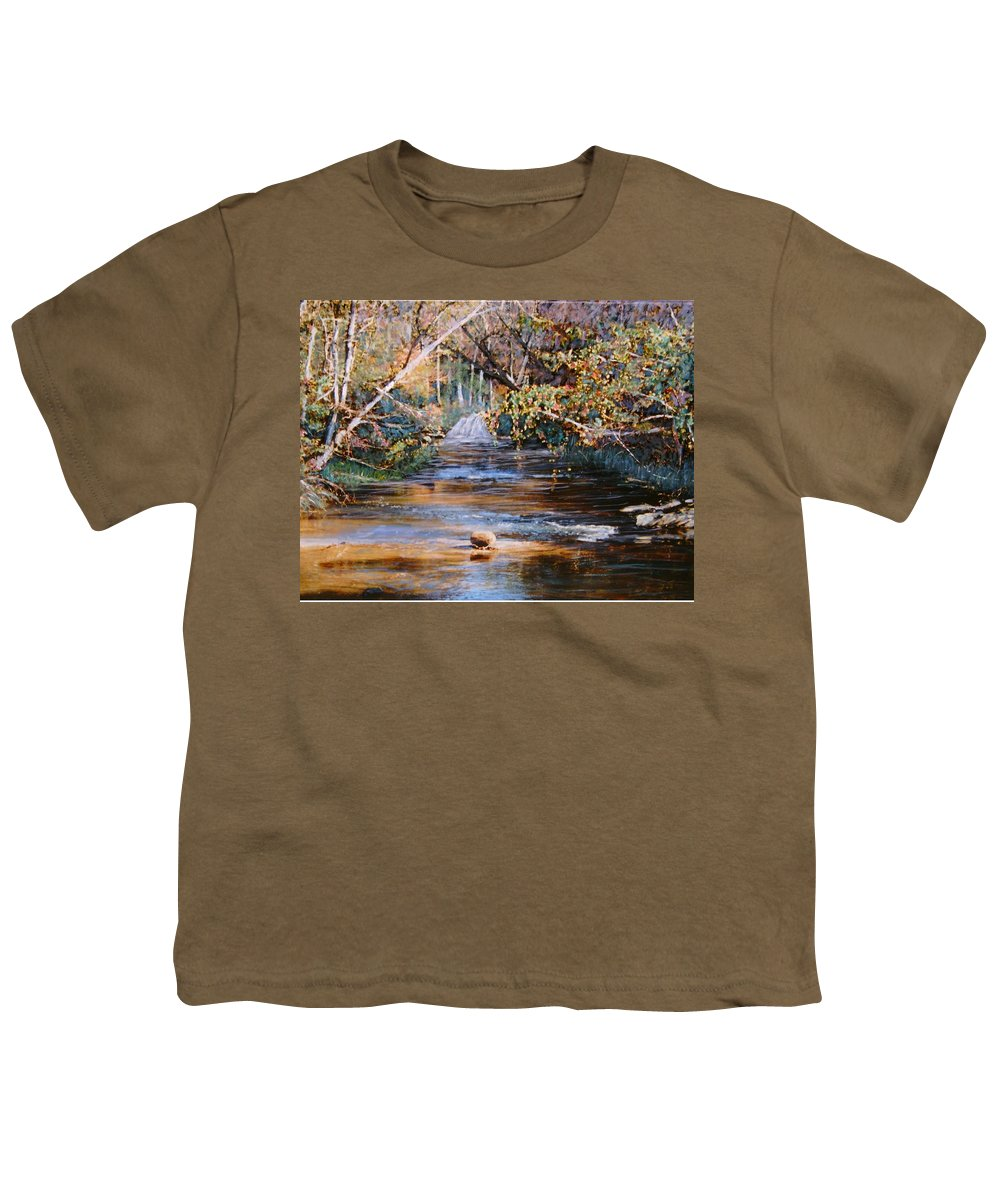 Peace Project Youth T-Shirt featuring the painting My Secret Place by Ben Kiger