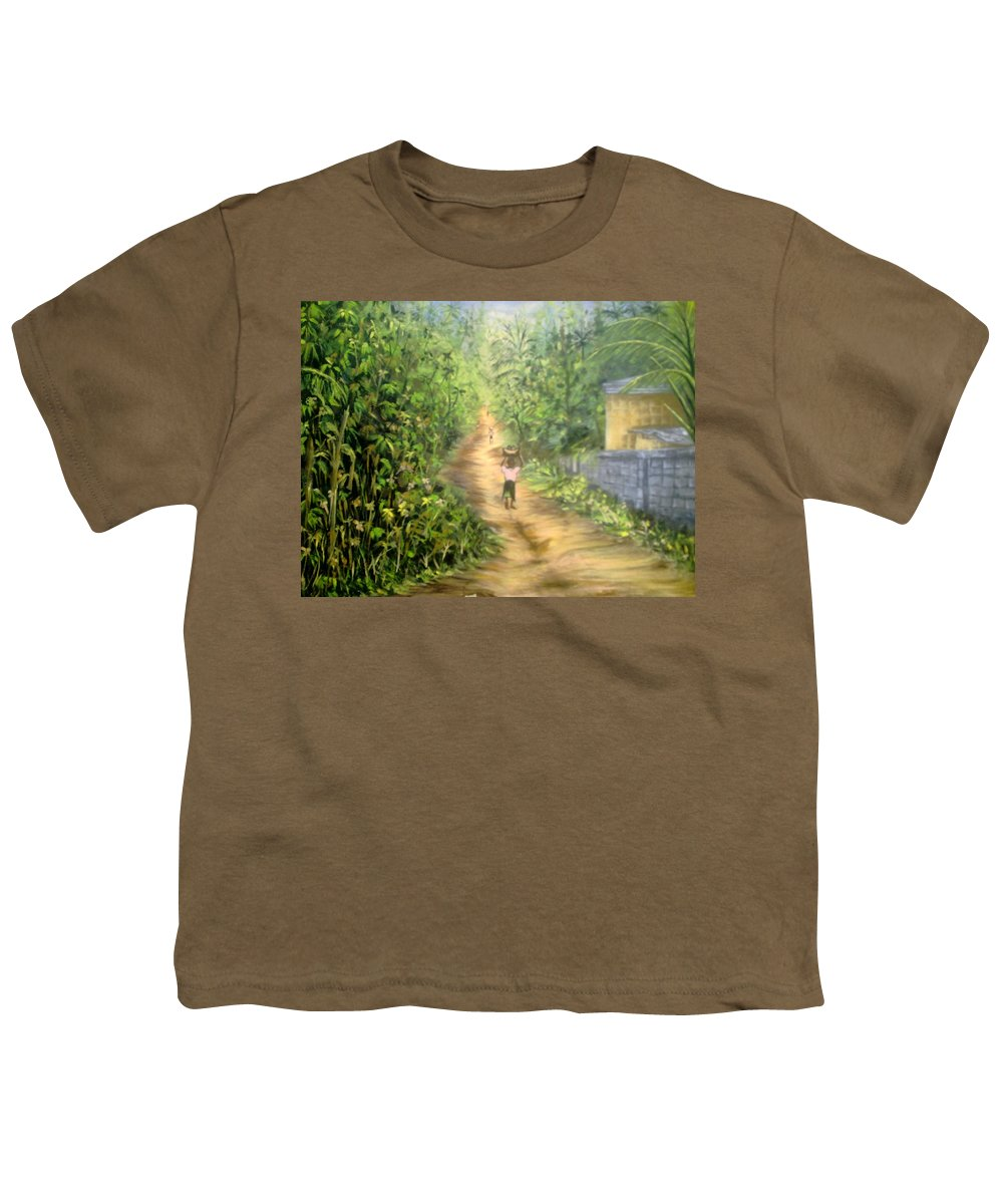 Culture Youth T-Shirt featuring the painting My Village by Olaoluwa Smith
