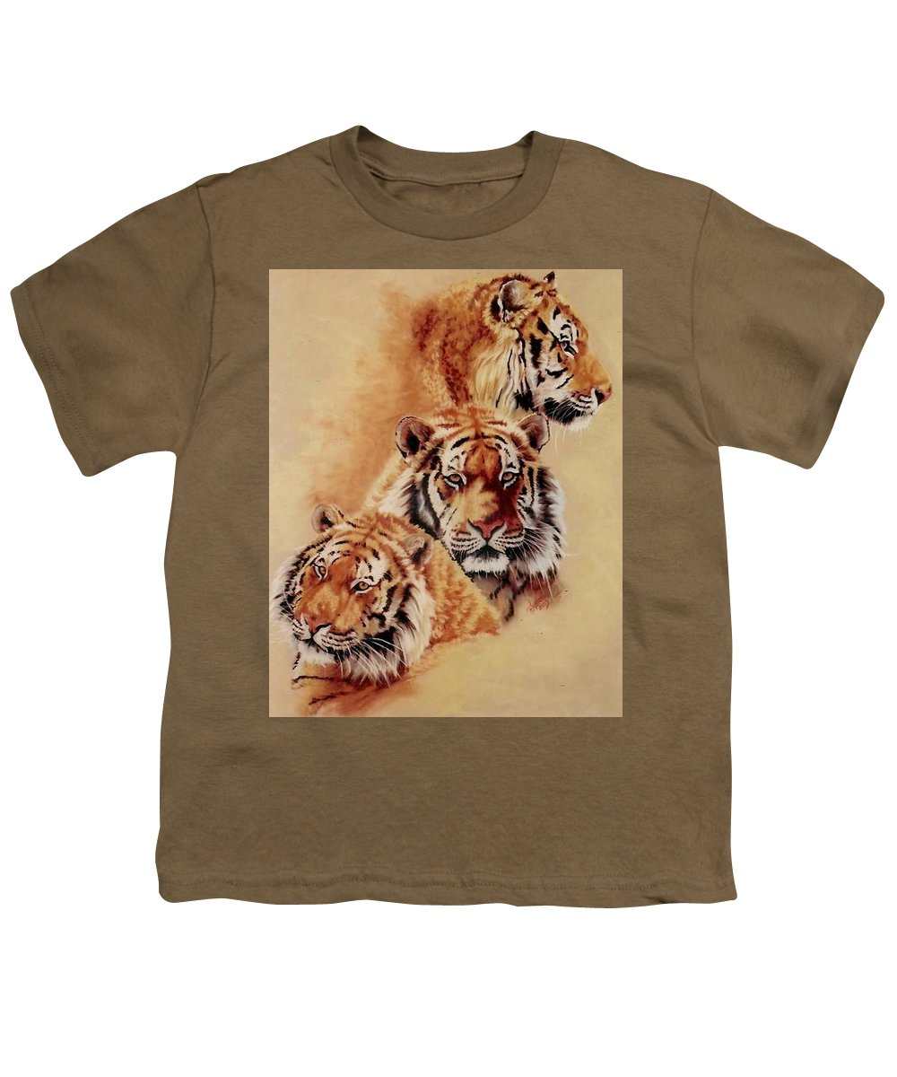 Tiger Youth T-Shirt featuring the pastel Nanook by Barbara Keith