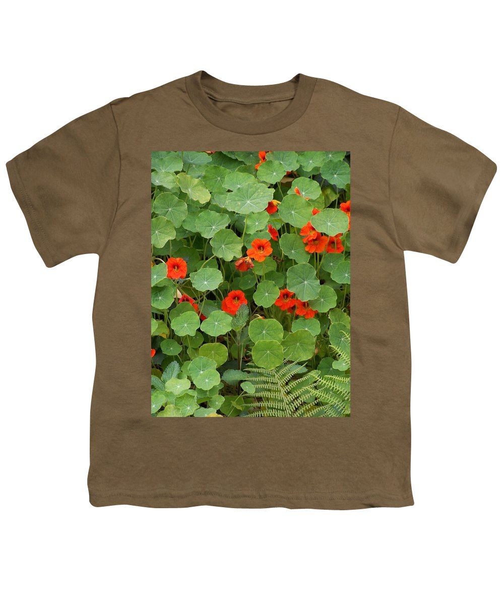 Nasturtiums Youth T-Shirt featuring the photograph Nasturtiums by Gale Cochran-Smith