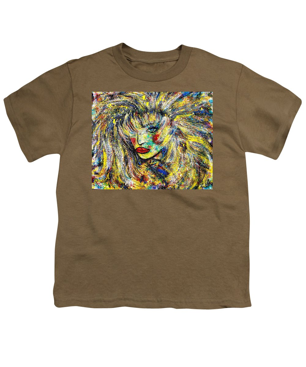 Portrait Youth T-Shirt featuring the painting Natalya by Natalie Holland