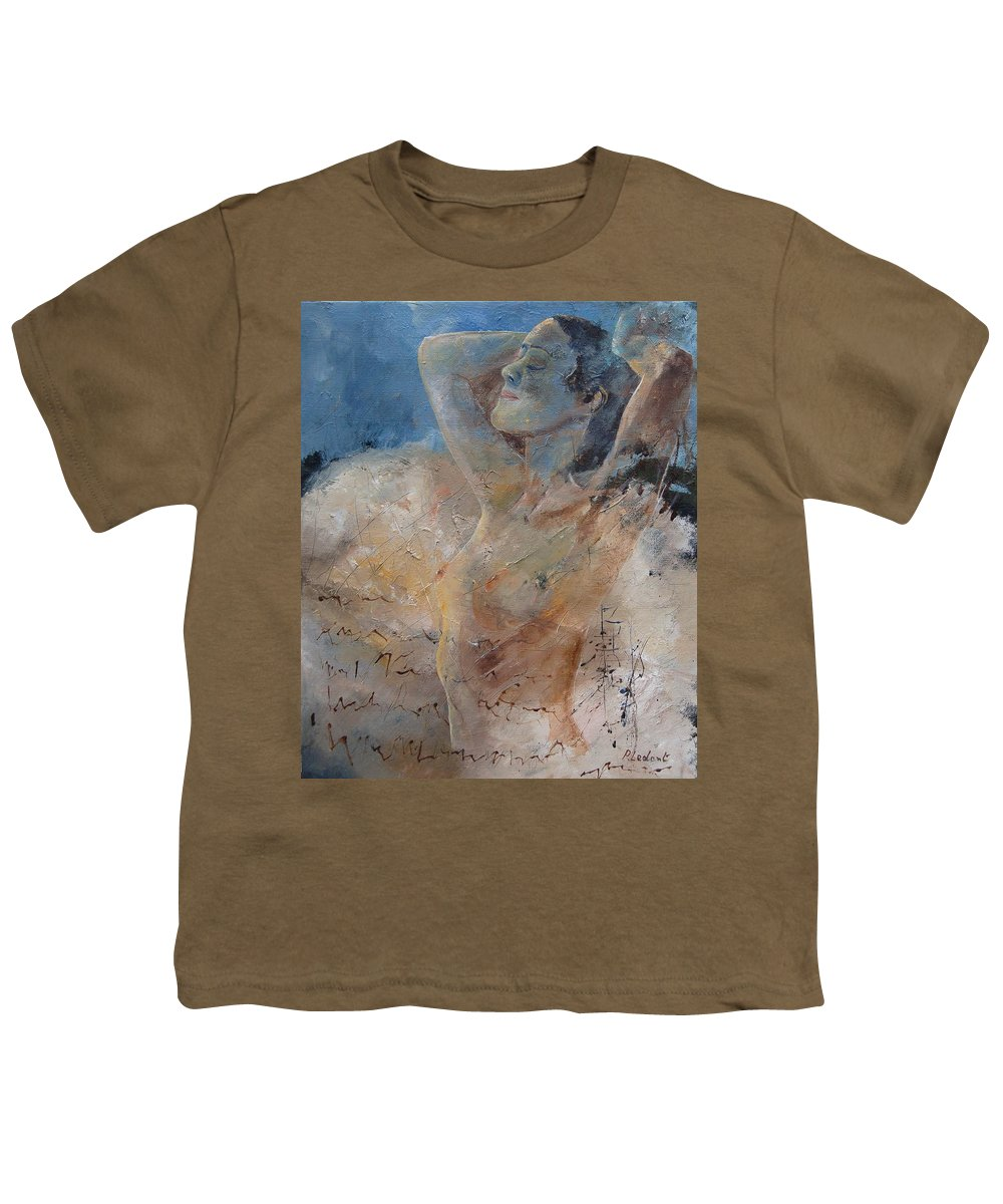 Nude Youth T-Shirt featuring the painting Nude 0508 by Pol Ledent