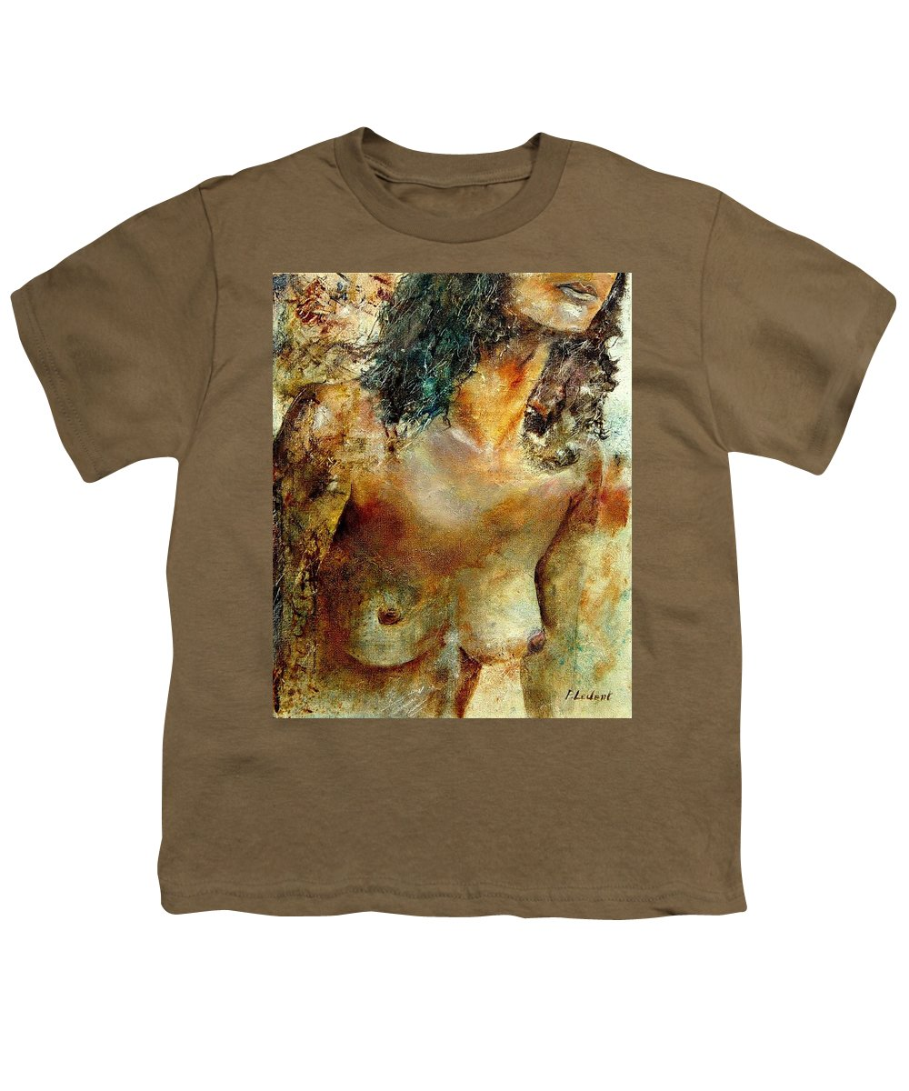 Girl Nude Youth T-Shirt featuring the painting Nude 34 by Pol Ledent