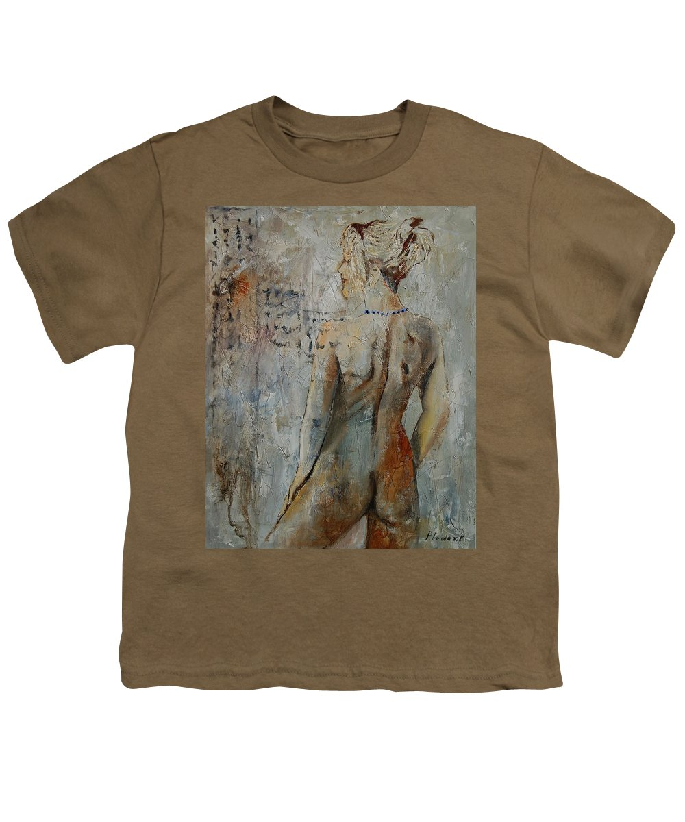 Girl Youth T-Shirt featuring the painting Nude 459020 by Pol Ledent