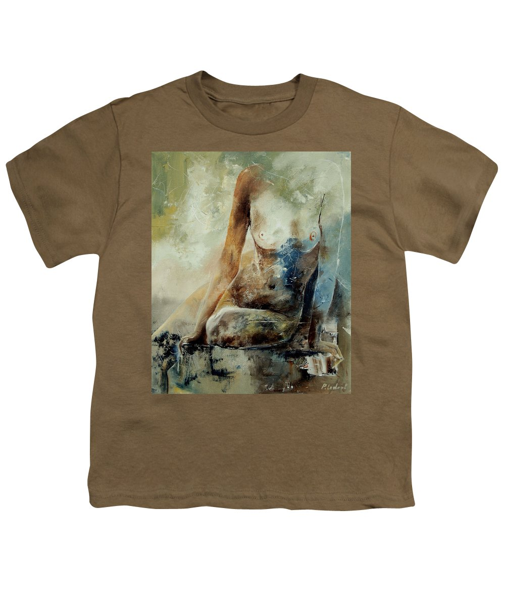 Nude Youth T-Shirt featuring the painting Nude 560408 by Pol Ledent