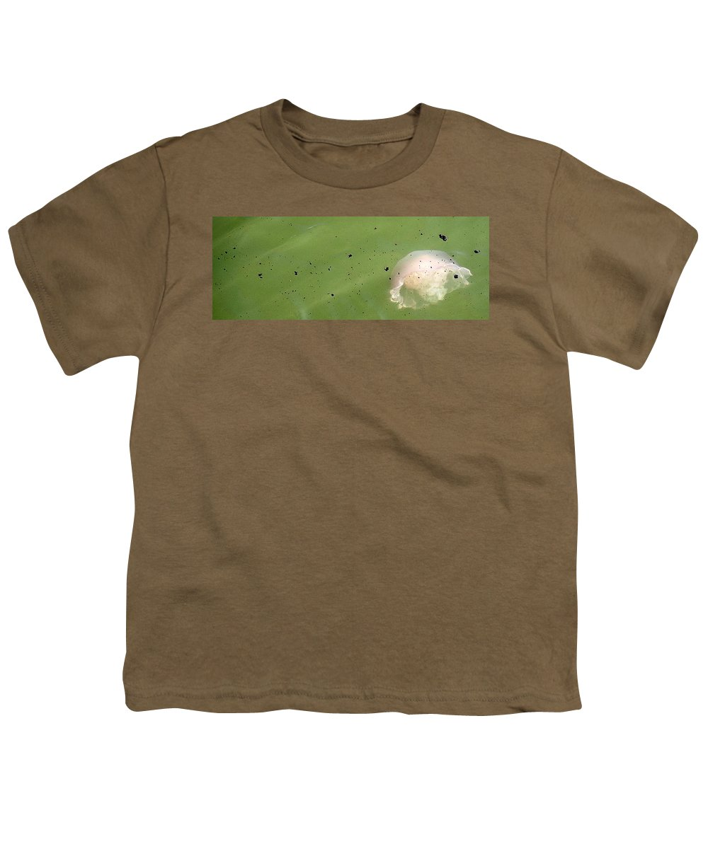Oil Spill Youth T-Shirt featuring the photograph Oil Vs Jellyfish by Kurt Hausmann